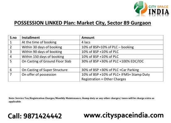 Oriis Market City PLP Payment Plan