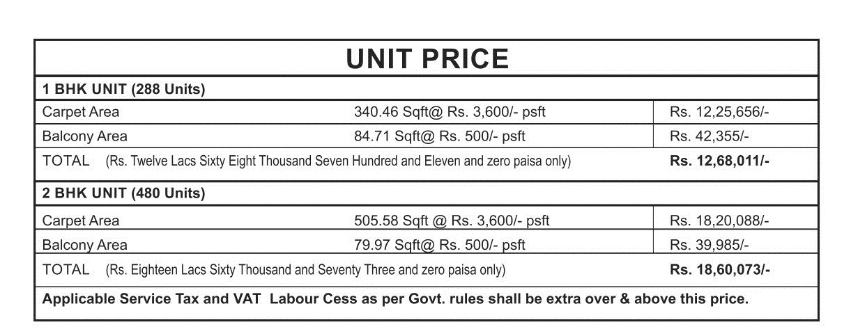Tulsiani Easy in Homes Affordable Housing Price List